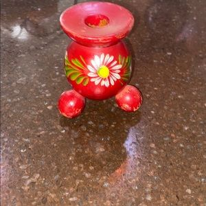 Other - Vintage candle holder  hand painted. Daisy